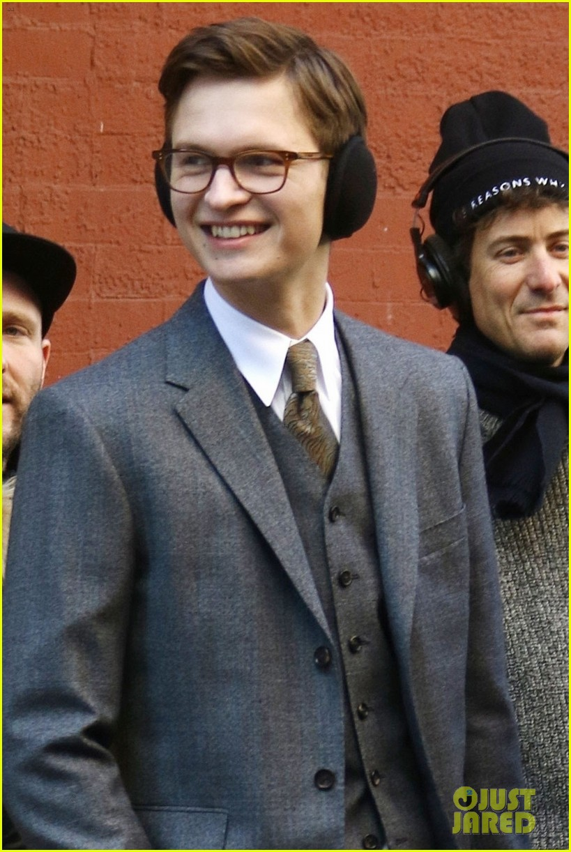ansel elgort suits up on set of the goldfinch in nyc 04