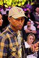 will ferrell and pharrell williams cheer on the lakers at basketball game 10
