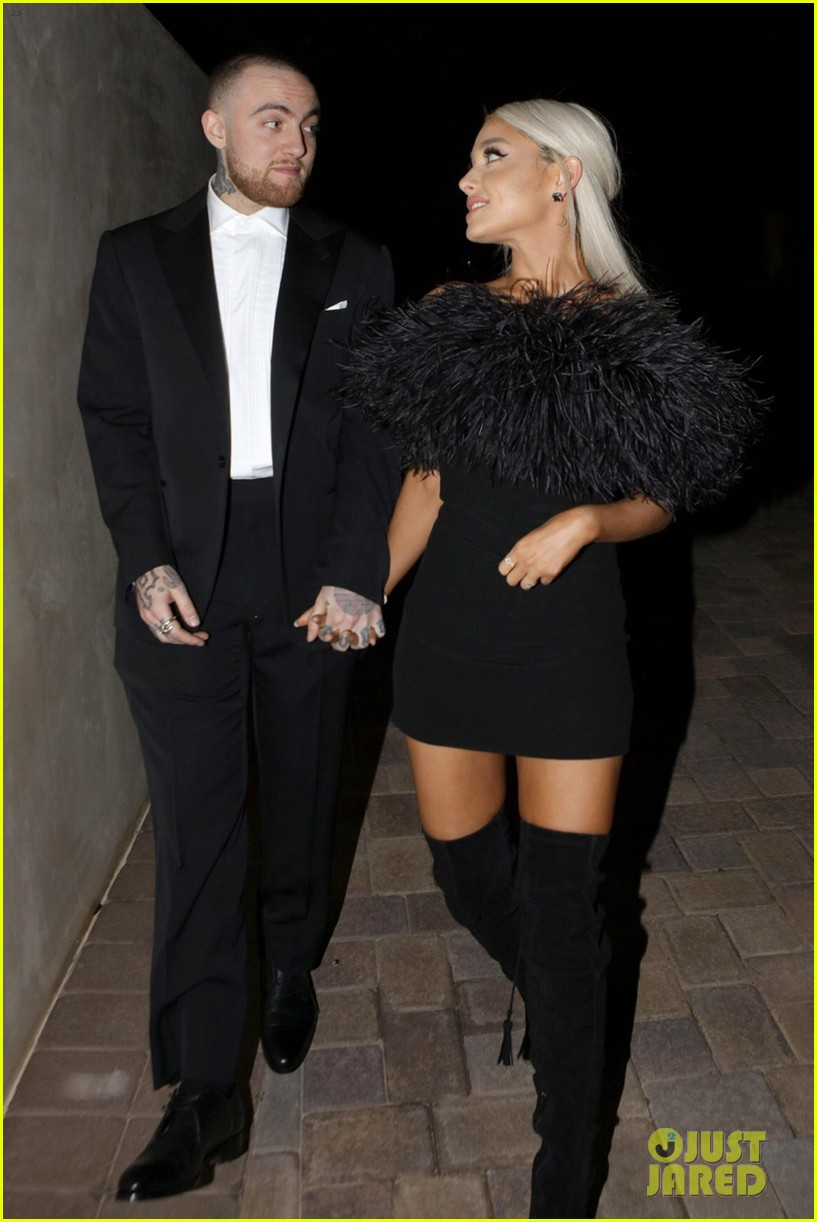ariana grande and mac miller attend madonnas oscars party2 01