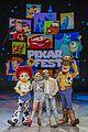 jordan fisher olivia holt pixar land opening event 02