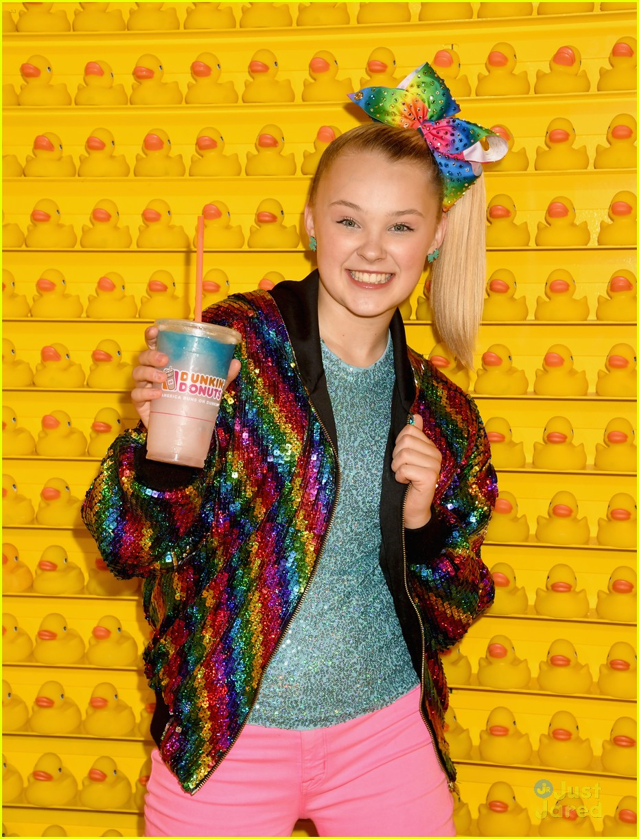 Full Sized Photo Of Jojo Siwa Dunkin Donuts Event Hair Down Quote