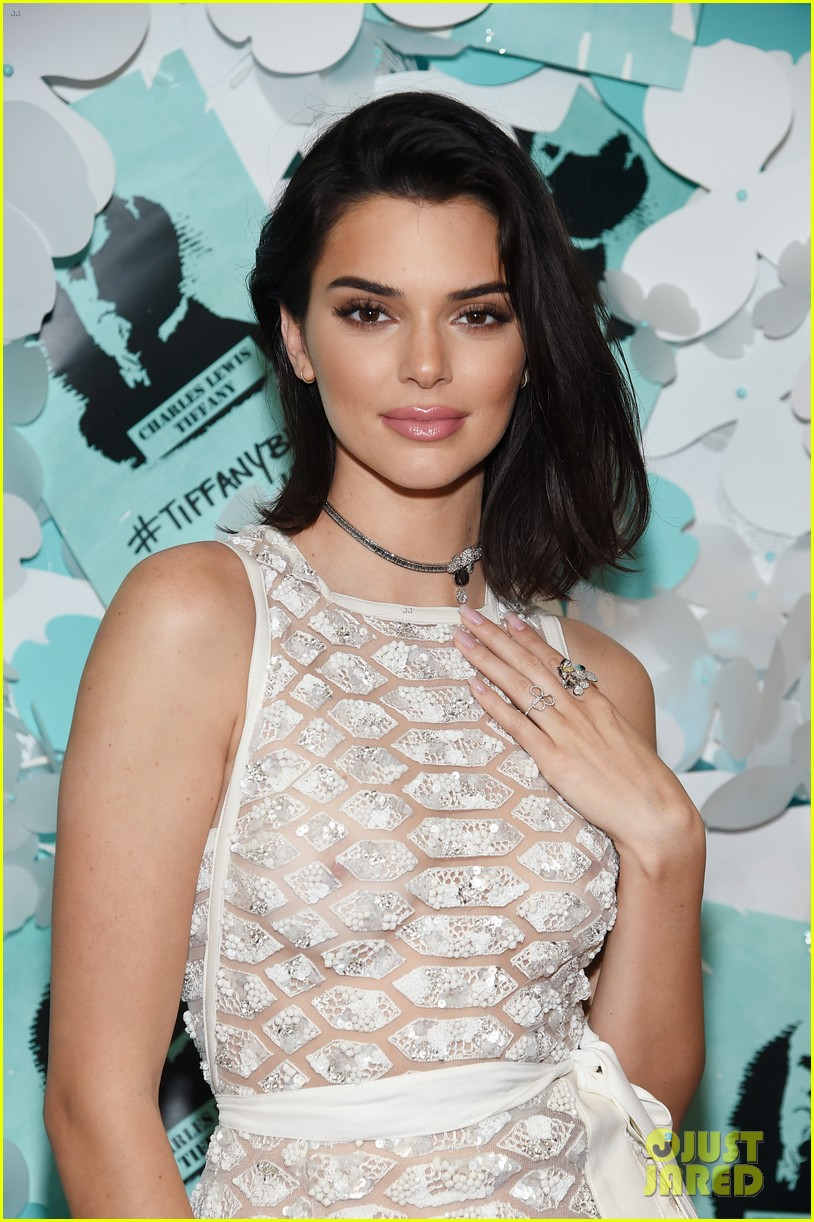 a03e26e650 Kendall Jenner Has a Girls' Night Out with Her BFFs! kendall jenner see  through dress tiffany co event 17