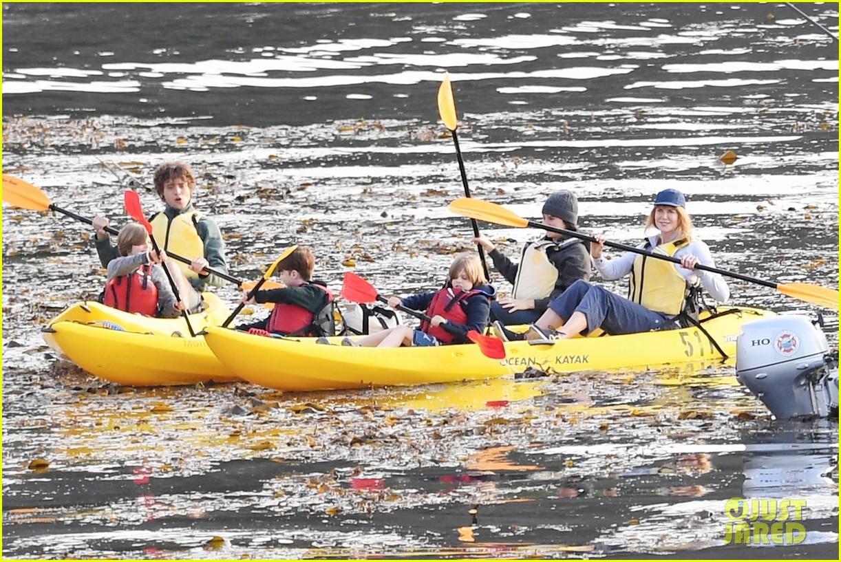Shailene Woodley & Iain Armitage Paddle a Canoe for 'Big