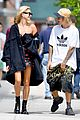 justin bieber and hailey baldwin cant stop smiling during nyc stroll 01