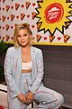 olivia holt and aubrey joseph strike a pose during comic con day 2 26