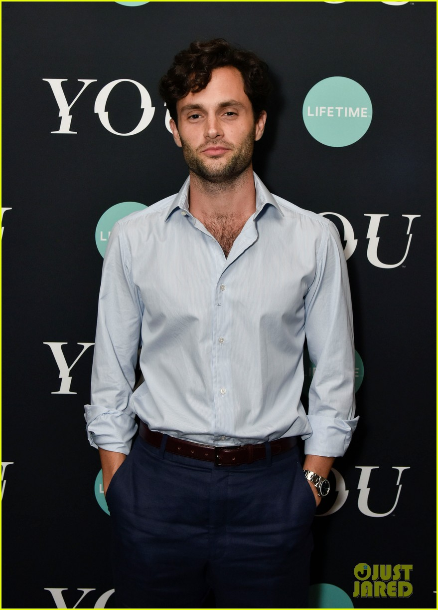 penn badgley elizabeth lail and shay mitchell look stylish at you series premiere 20