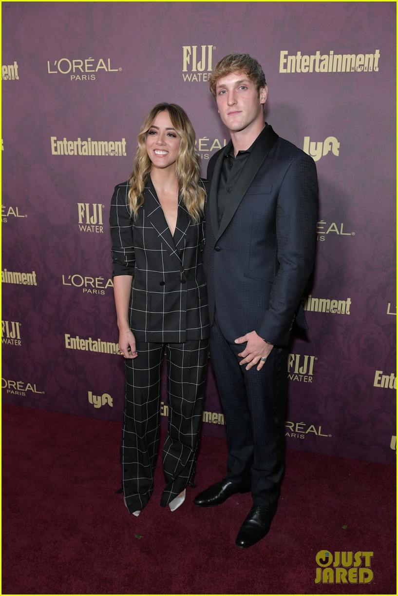 chloe bennet logan paul show affection at ew pre emmys party 05
