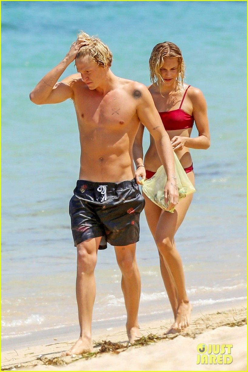 cody simpson hits the beach with girlfriend clair wuestenberg 47