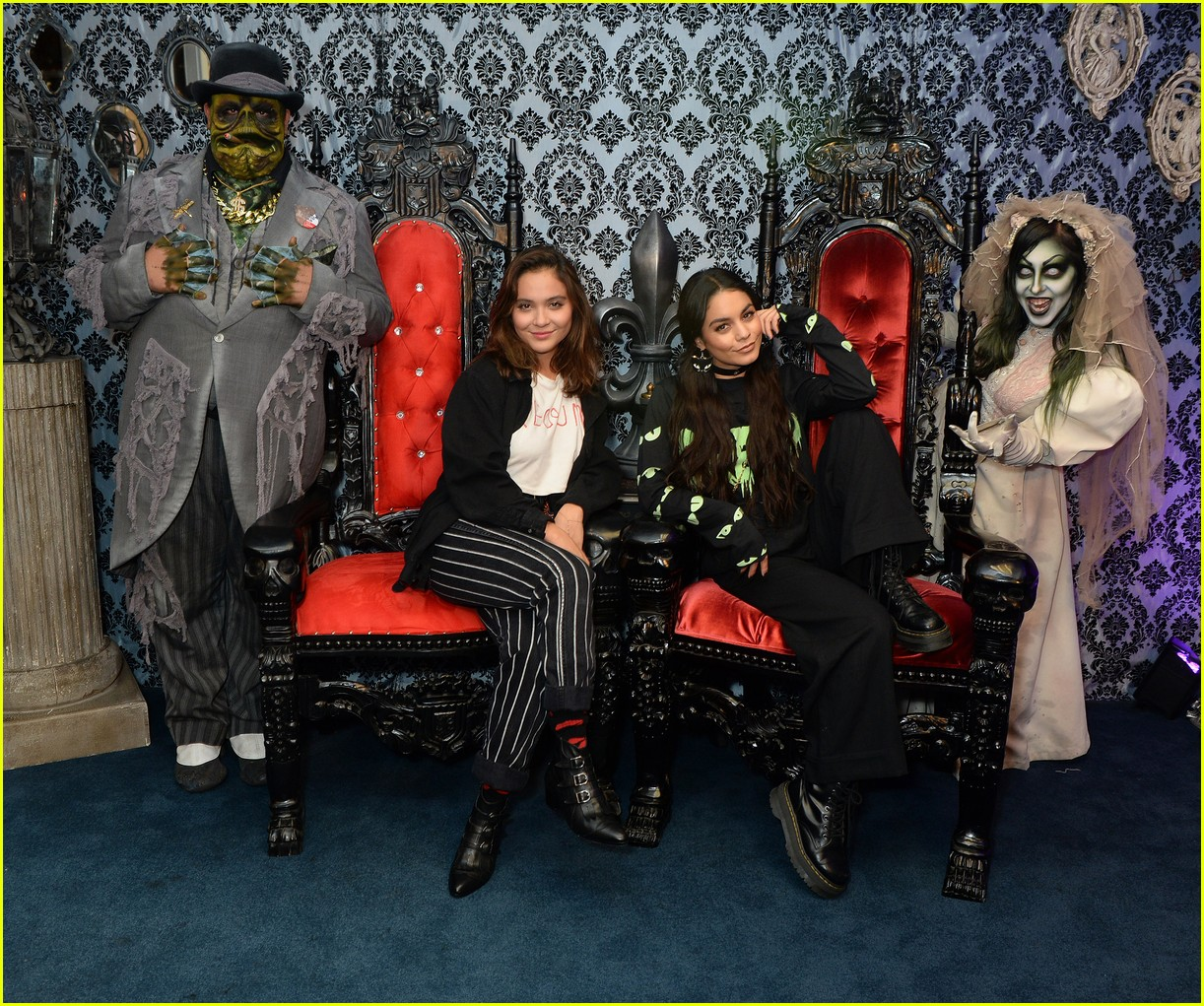 vanessa hudgens channels her inner monster at knotts scary farm with austin butler05