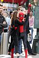 tom holland dons spider man far from home costume while filming with zendaya in nyc201
