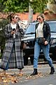 lucy hale looks chic in long checked coat while out to lunch 08