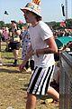 brooklyn beckham hana cross take in the music at glastonbury festival 02