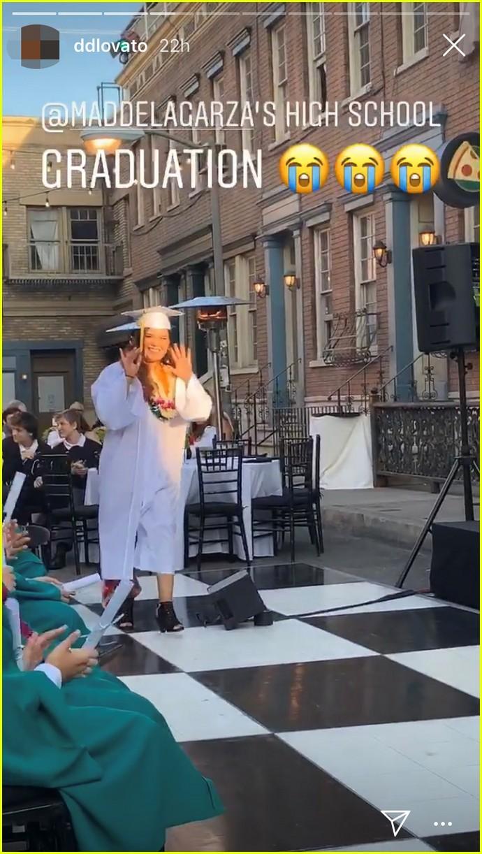 madison de la garza gets big sister demi lovatos support at graduation 03