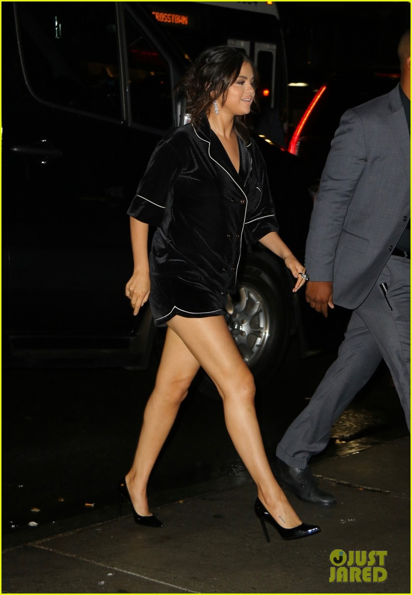 selena gomez wears pajama inspired look to dead dont die after party 01