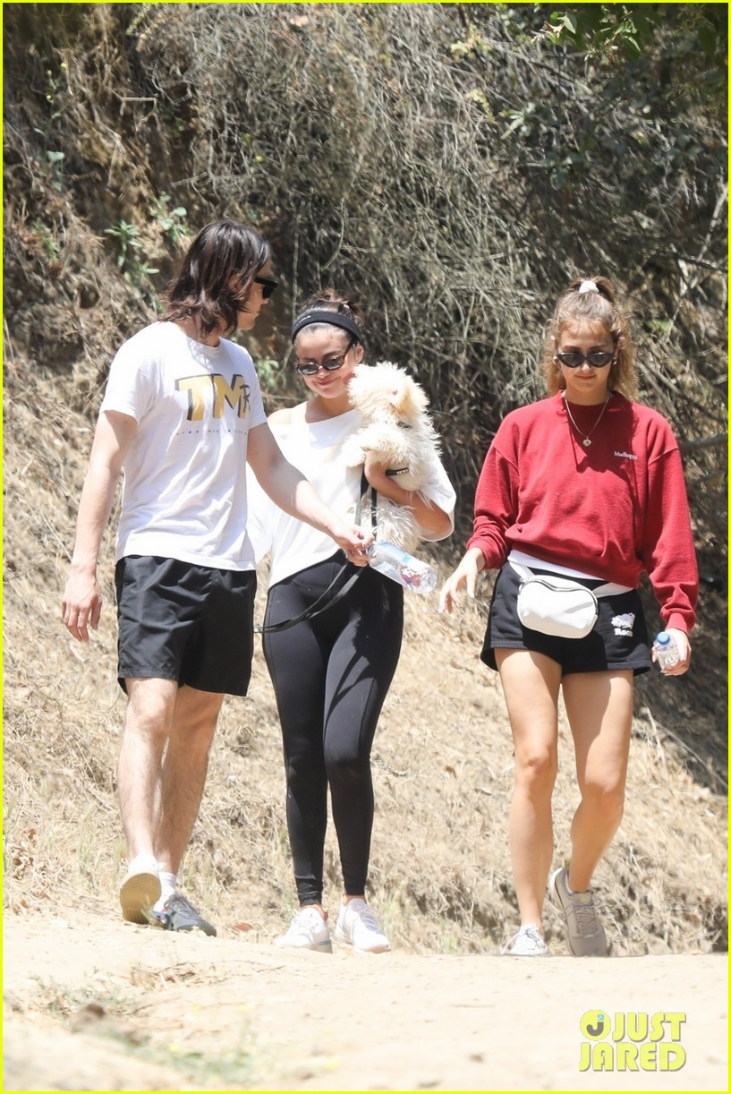 selena gomez goes for a hike with new puppy friends 07