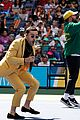 meg donnelly austin mahone hit the stage for arthur ashe kids day 10