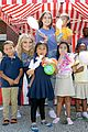 bailee madison lauren alaina help distribute backpackswith blessings in a backpack 09