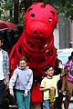clifford the big red dog movie set photos 04