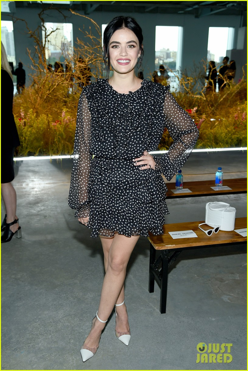 lucy hale attends jason wu runway show during nyfw 01