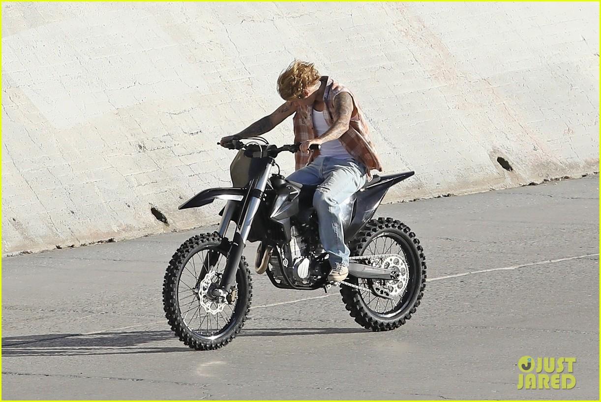 justin bieber rides motorcycle music video 14