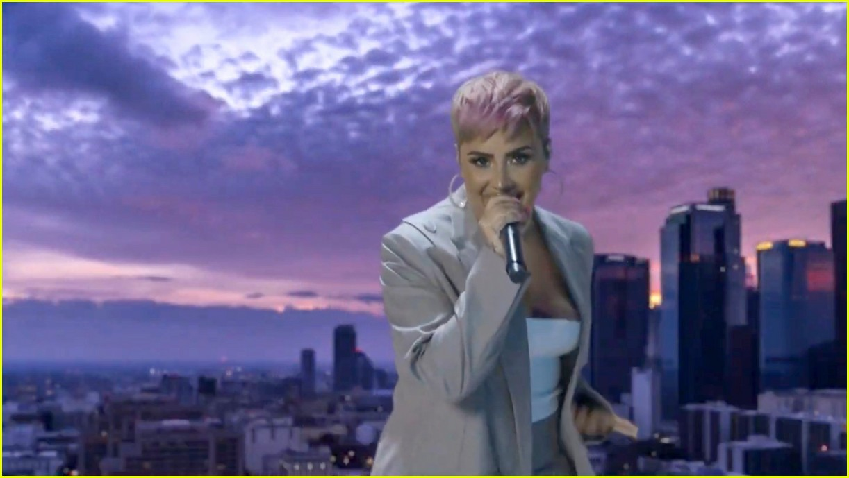 demi lovato covers lovely day for celebrate america 01