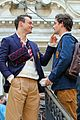 thomas doherty shares cute moments with gossip girl costars while filming 02