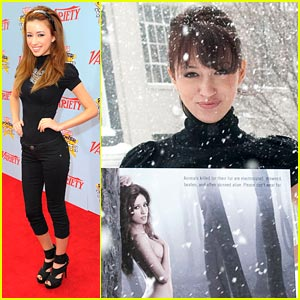 Christian Serratos is a Snow Queen