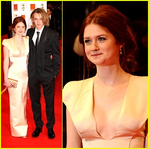 Bonnie Wright & Jamie Campbell-Bower: Prada Pair