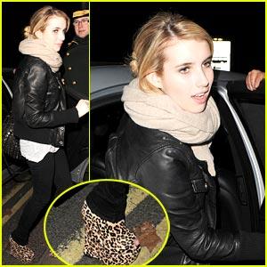 Emma Roberts: Leopard Peep-Toe Pretty