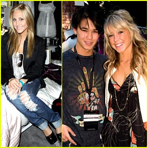 Cassie Scerbo &#038; Booboo Stewart Get Gifting Goodies