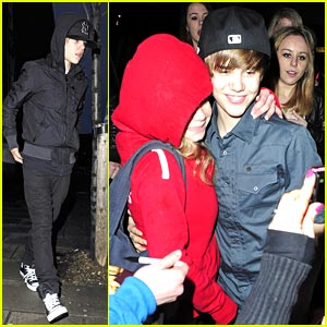 Justin Bieber Leaves London Sleep-Eyed