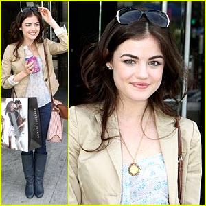 Lucy Hale is Armani Exchange Excited