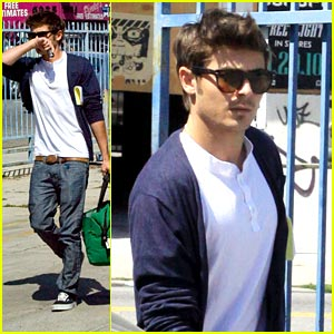 Zac Efron Runs Around Hollywood