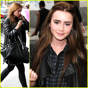 Lily Collins is Bowery Beautiful