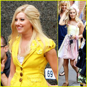Ashley Tisdale: Yellow in Yorkville