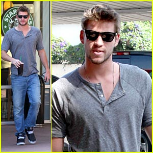 Liam Hemsworth is a Starbucks Stud