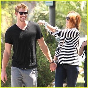Miley Cyrus & Liam Hemsworth: Melrose Mates