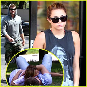 Miley Cyrus & Liam Hemsworth: Togos Twosome