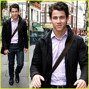 Nick Jonas Looks Around London