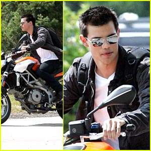 Taylor Lautner is a Motorcycle Man