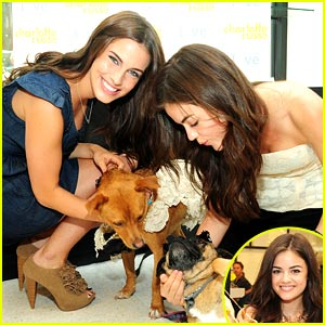 Lucy Hale: Cuddles with Snuggles