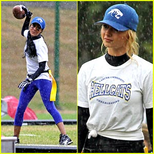Aly Michalka & Heather Hemmens: Flag Football Frenemies