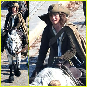 Logan Lerman: Painted Horse Prance