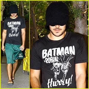 Zac Efron: Beanie in Beverly Hills