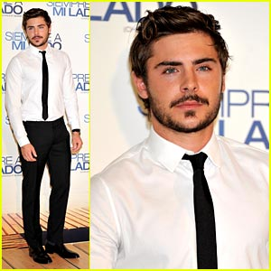 Zac Efron: Mustache in Madrid