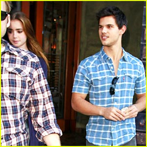 Taylor Lautner & Lily Collins: Lunch Date!