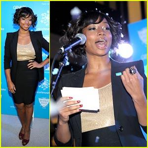 Monique Coleman: UNICEF Snow90210 in Beverly Hills!