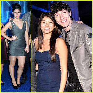 Yin Chang &#038; Janelle Ortiz: Tron Premiere with Prom Cast!