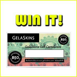 Win $50 Credit for Gelaskins!