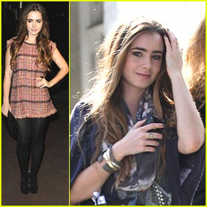 Lily Collins: Chanel Shopper
